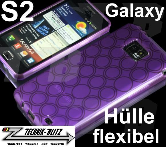 kreis schutz h lle lila violet f r samsung galaxy s2 i9100. Black Bedroom Furniture Sets. Home Design Ideas