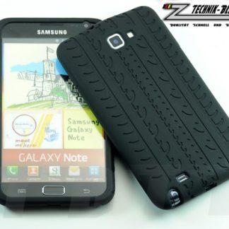 Silikonhülle für Samsung Galaxy Note N7000 im Reifendesign