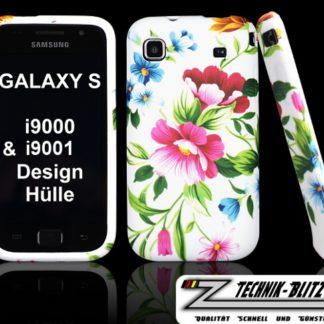 Samsung Galaxy S Hülle im Blumen Design Weiß auch für S PLUS