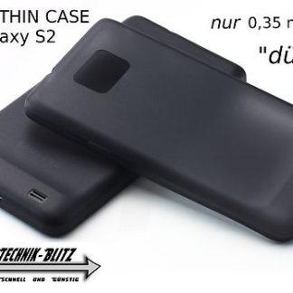 S2 Hülle Ultra Dünn i9100 Schutzhülle i9105 PLUS Schwarz
