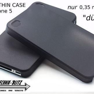 Schutzhülle Ultra-Thin für Apple Iphone 5 SE 5S Schwarz