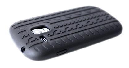 Silikonhülle für S3 Mini Schwarz Reifendesign