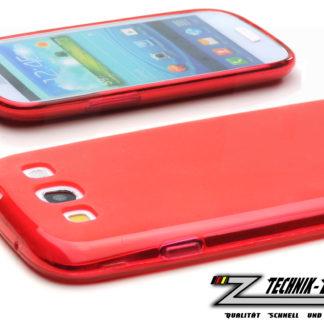 Schutz-Hülle fexibel Rot für Samsung Galaxy S3 i9300 i9305 LTE