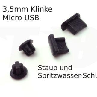Staubkappen für Micro usb und Kopfhörerbuchse