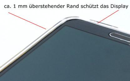 Überstehender Rand Handyhülle durchsichtig für S5 Mini G800F /plus