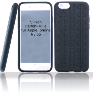 Silikon Reifenhülle für das Iphone 6 und 6S in Schwarz