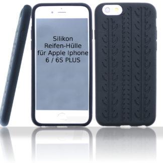 Silikon Schutzhüllle für Iphone 6 6S Plus Schwarz im Reifendesign