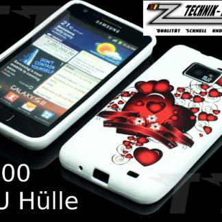 Herz Band Schutzhülle für Samsung Galaxy S2 i9100 i9101 PlusHerz Band Handyhülle für Samsung Galaxy S2 i9100 Plus