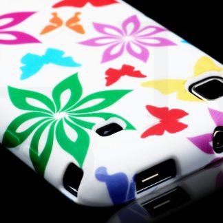 Schutzhülle Samsung Galaxy S i9000 i9001 Plus Schmetterling Blumen