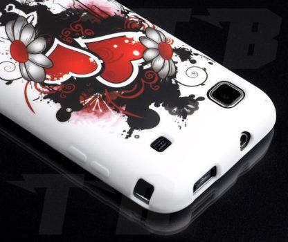 S1 I9000 Schutzhülle 2 Herzen Samsung Galaxy