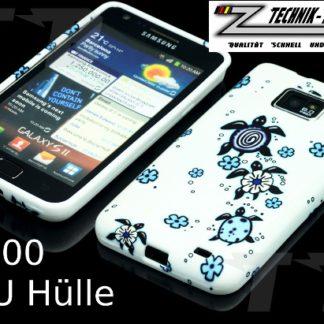 Schutzhülle für Samsung Galaxy S2 i9100 Weiß im Schildkröten Design