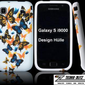 Schutzhülle Schmetterling für Samsung Galaxy S1 S i9000 i9001