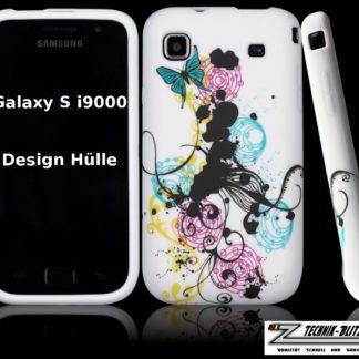 Schutzhülle für Samsung Galaxy S1 in Weiß Design Klecks