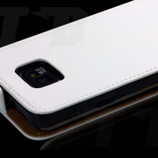 Samsung Galaxy S2 Kunst-Lederhülle Weiß