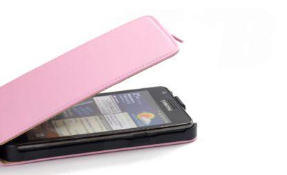 PU Leder Schutz-Hülle Rosa Rose für Samsung Galaxy S2 i9100