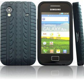 Reifen Silikon Hülle Schwarz für Samsung Galaxy Ace S5830 i S5839