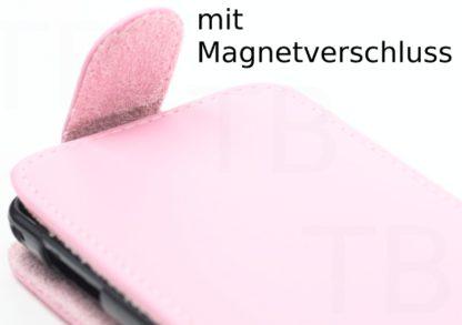 Leder Schutzhülle Rosa Magnetverschluss Galaxy S2