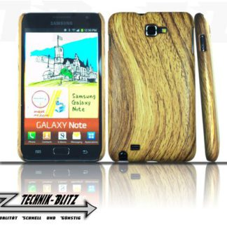Samsung Galaxy Note 1 Hülle Holz Design N7000