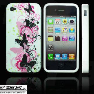 Iphone 4 / 4S Schutzhülle Schmetterling Band