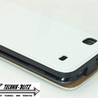 Kunst-Leder Schutzhülle Weiß für Samsung Galaxy S i9000