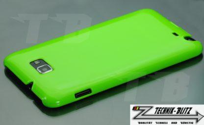 Neongrüne Schutzhülle für Samsung Galaxy Note 1 N7000 Hardcover